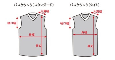 バスケシャツサイズ表