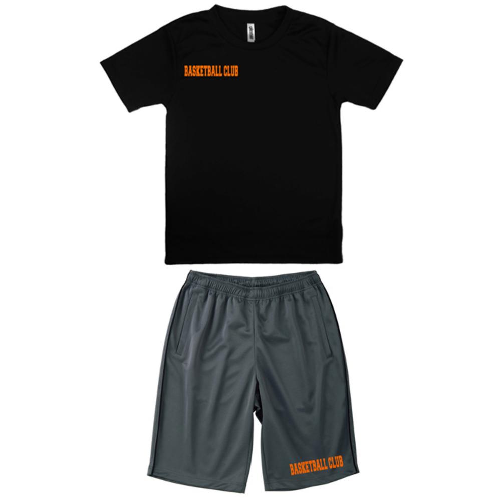 ラバープリント付 / Tシャツ・ジャージハーフパンツセット